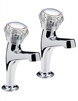Special Economy Pair Of High Neck Pillar Taps