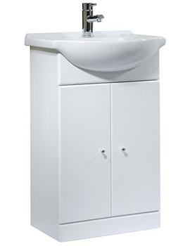 Tavistock Meridian 500mm White Freestanding Unit And 550mm Basin