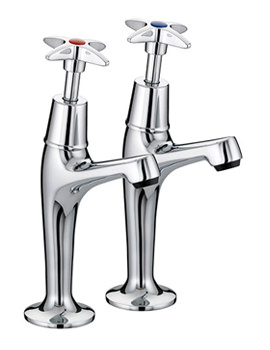5412 Value Cross Top High Neck Pillar Taps  - VAX HNK C