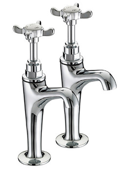 1901 High Neck Pillar Taps - N HNK C