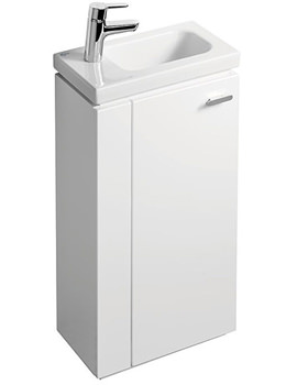 Ideal Standard Concept Space 450mm Guest Left Hand Basin Unit Gloss White