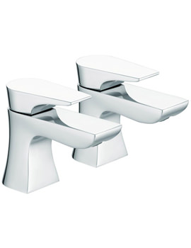 Hourglass Basin Taps Chrome - HOU 1-2 C
