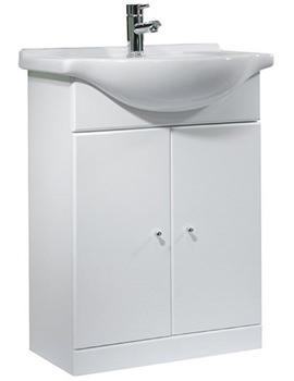 Tavistock Meridian 600mm White Freestanding Unit And 650mm Basin