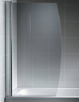 Synergy 895 x 1500mm Bow Front Bath Screen