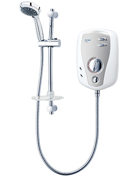 T100XR Electric Shower 9.5KW White And Chrome