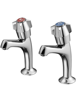 Nimbus Chrome High Neck Sink Pillar Taps- S7220AA