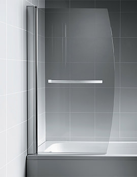 Synergy Bow Bath Screen With Towel Rail - L6212AA