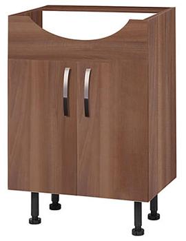 Balterley Walnut 600mm Vanity Base Cabinet With Legs - BYFWN6V