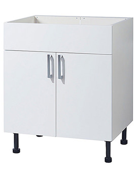 Balterley Euro White Gloss 600mm Vanity Base Cabinet With Legs