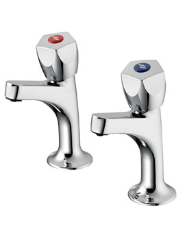 Sandringham 21 Sink Pillar Taps With 5 Facet Handles