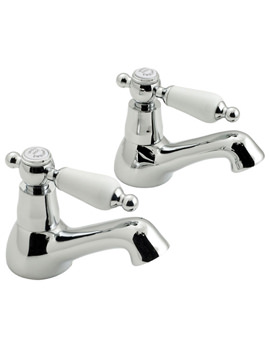Kensington Deck Mounted Basin Pillar Taps - KEN-106-CD