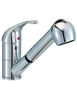Titan Monobloc Kitchen Tap With Pull Out Rinser - KIT007