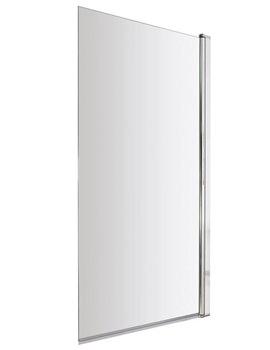 Hudson Reed Polished Chrome Minimalist Bath Screen - BS002