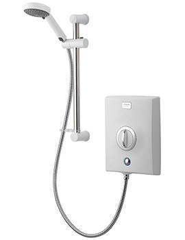 Quartz 8.5kw Electric Shower White And Chrome - QZE8521