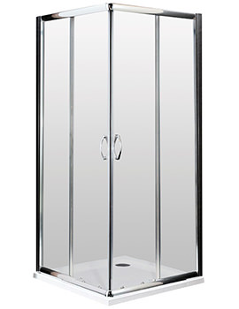Lauren Ella Corner Entry Shower Cubicle 760 x 760mm - ERCE7676