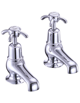 Burlington Anglesey 3 Inch Basin Taps Chrome Plated - AN1