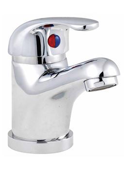 Lauren D-Type Chrome Mono Basin Mixer Tap Without Pop Up Waste