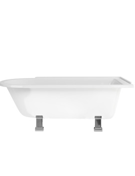 Hampton Freestanding Bath With Chrome Period Legs - LH - E13 - E9 CHR
