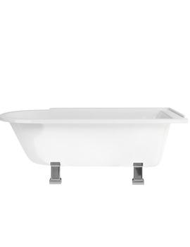 Hampton Freestanding Bath With Chrome Period Legs - LH - E13 - E9 CHR