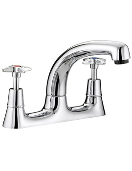 5412 Value Cross Top Deck Sink Mixer Tap - VAX DSM C