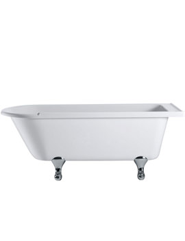 Hampton Freestanding Bath With Chrome Classical Legs - E13 - E10 CHR