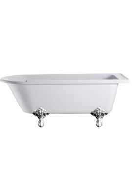 Hampton Freestanding Bath With Chrome Traditional Legs - E13 - E11 CHR