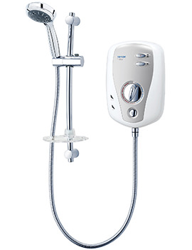 T100XR Electric Shower 10.5KW White and Chrome - SP1001XR