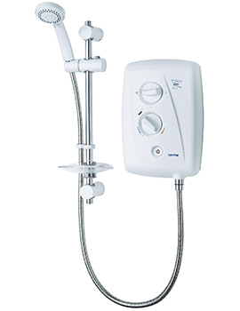 Triton T80Z Electric Shower White And Chrome 9.5kW