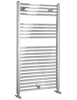 Dolomite Chrome Straight Heated Towel Rail 400 x 1100mm