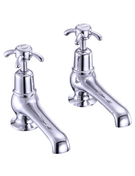 Anglesey 5 Inch Basin Taps Chrome Plated - AN2