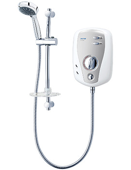 T100XR Electric Shower 8.5kw White And Chrome - SP1008XR