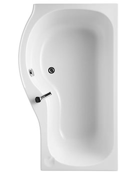 Related Ideal Standard Space 1500mm x 700mm Idealform Offset Shower Bath