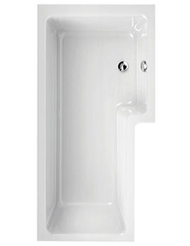 Thames 1700 x 700mm Right Hand Shower Bath - 154THAMESRH