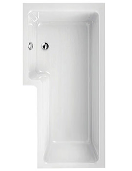 Thames 1700 x 700mm Left Hand Shower Bath - 154THAMESLH