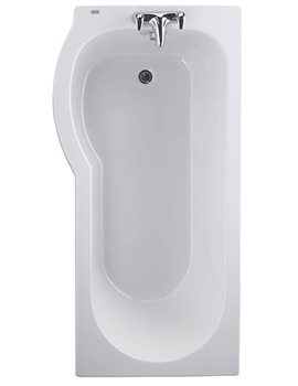 Galerie Optimise Offset Shower Bath 1500 x 700mm- GP8710WH