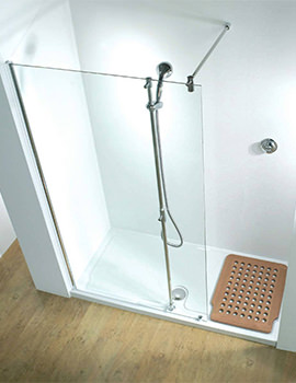 Ultimate 1700mm RH Recess Walk-In Panel With Shower Tower