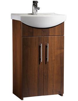 Tavistock Opal 500mm Walnut Floorstanding Unit And Basin - OPVU50AW