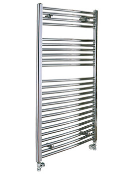 Reina Diva Chrome Flat Towel Rail 300 x 800mm - DIVA3080