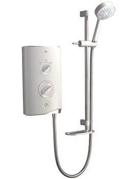 Sport Electric Shower 7.5kW White And Chrome - 1.1746.001