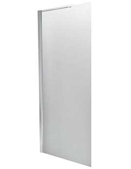 1000mm Straight Wetroom Screen With Single Support Arm