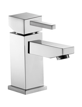 Sq2 Single Lever Basin Mixer Tap With Clicker Waste - SQBAS