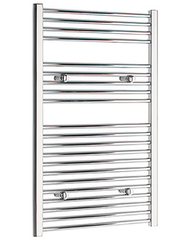 Straight 400 x 1000mm Chrome Towel Rail - STRCR40100