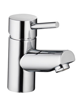 Xcite Single Lever Small Basin Mixer Tap With Clicker Waste