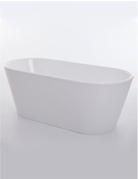 Black Sapphire White Freestanding Bath 1650 x 735mm