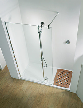 1500 LH Recess Walk-In Panel With Shower Tower