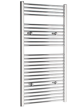 Straight 500 x 1200mm Chrome Towel Rail - STRCR50120