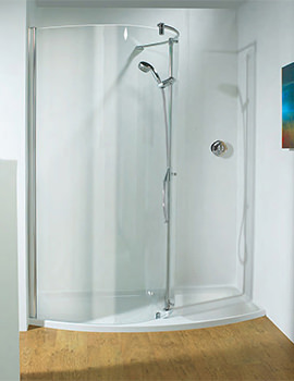 Ultimate 1700mm LH Curved Panel Walk-in Package Recess