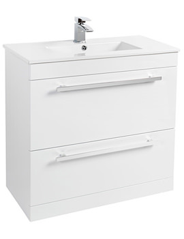 800mm Floor Standing Vanity Unit And Basin White