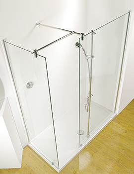 Ultimate 1700mm LH Corner Walk-In Enclosure With Shower Tower