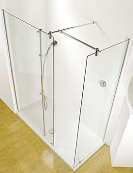 Kudos Ultimate 1500mm LH Walk-In Corner Shower Enclosure